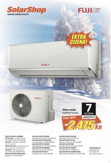 MITSUBISHI i FUJI AIR Klima uređaj grijanje+hlađenje AKCIJA