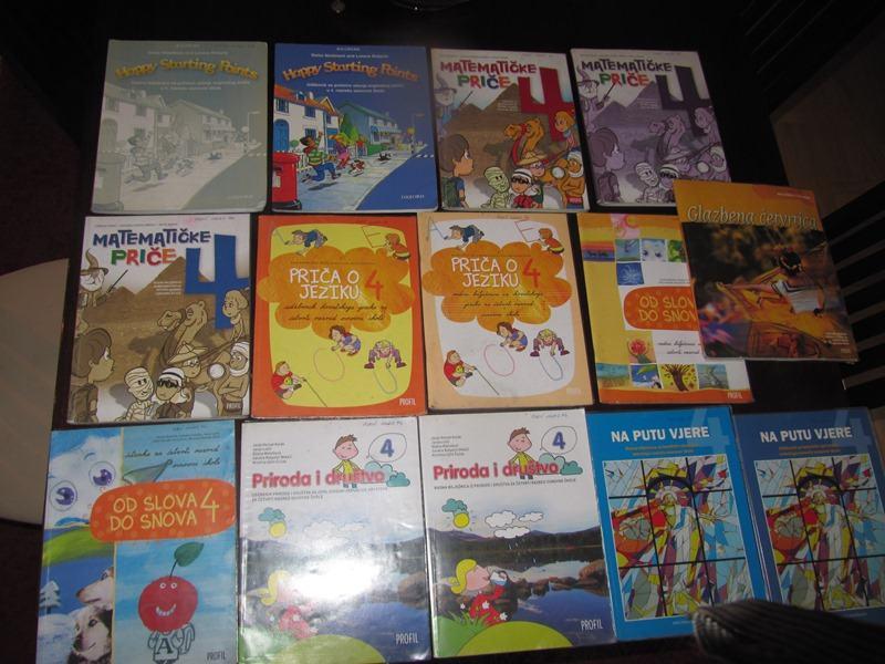 Školske knjige za 4 razred osnovne škole
