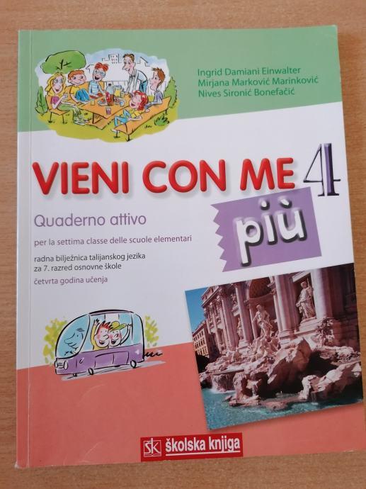 VIENI CON ME 4 PIU - radna bilježnica