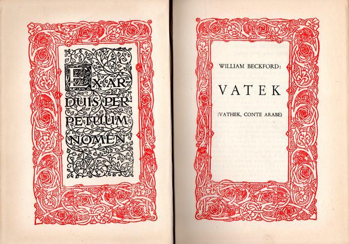 Beckford, William - Vatek : (Vathek, conte arabe)