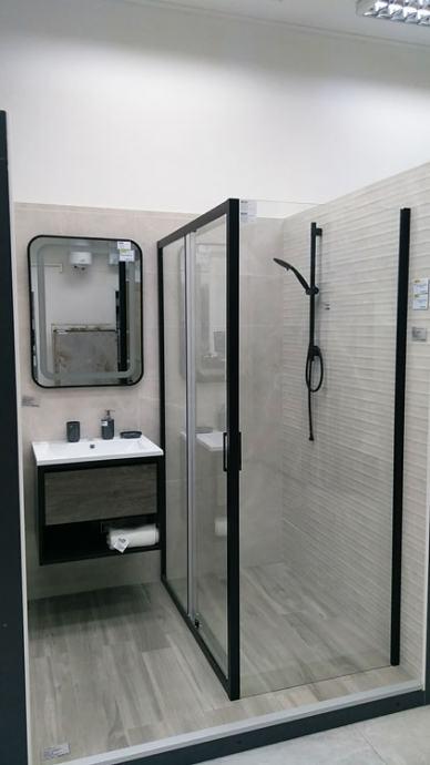 Tuš kabina crna mat S120B 80x120 / 2.998,00 kn  POPUST -10%