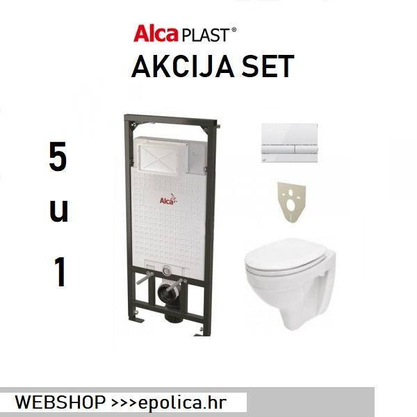 Ugradbeni vodokotlić  + tipka + školjka + wc daska