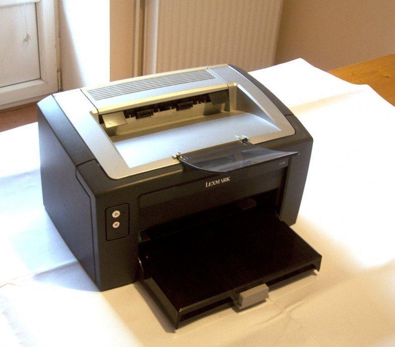 Lexmark E120 Laserski pisač, crno-bijeli Ispravan