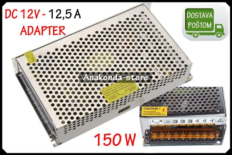 12,5A -12V Punjač Adapter za LED RGB Traku Napajanje Snaga 150W ★RAČUN