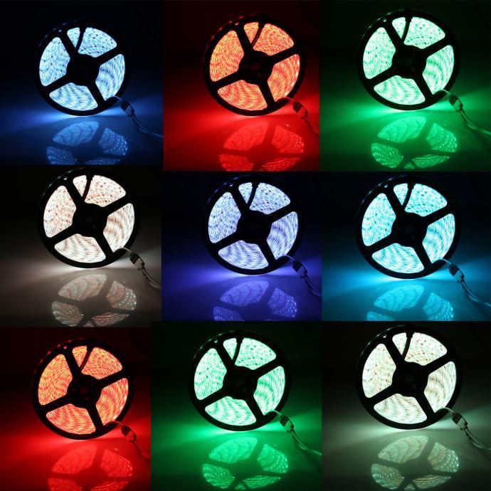LED traka 5m, RGB+W sa daljinskim, 44 tipke, komplet - NOVO!