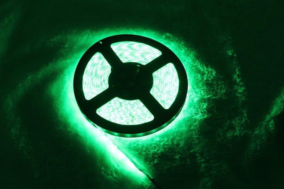 LED TRAKA ZELENA 5050 300SMD 10mm za unutrašnju montažu 5 metara