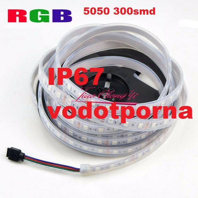 RGB LED traka DC12V 5050 300smd 5metara u TUBI IP67 može i pod vodu