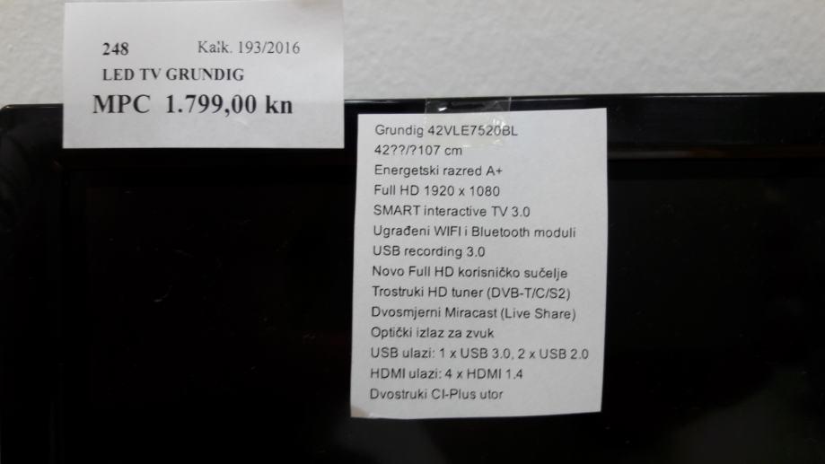 GRUNDIG LED SMART TV, 107 CM,FULL HD ,KAO NOV ,POVOLJNO,R1 RACUN