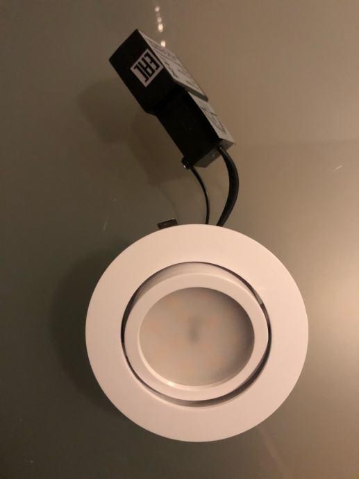 LED ugradbene svijetiljke Pineda nove, bijele