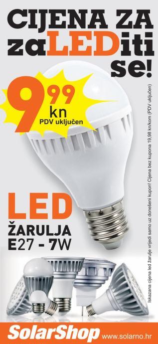 LED žarulje SOLE E27 od 8kn-3W-LED žarulja-AKCIJA LED rasvjete