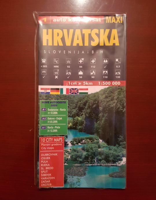 Auto Karta Hrvatska Slovenija Bih Akcija Novo