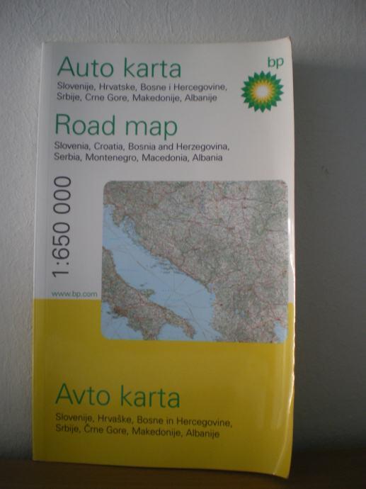 Auto Karta Hrvatske Slovenije Bih Crne Gore Srbije Maked I Albanije