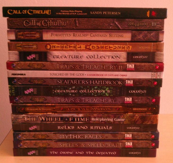 Dungeons & Dragons blago: knjige, kampanje, minijature i PC igre