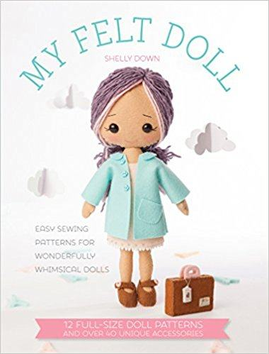 Shelly Down - My felt doll - novo
