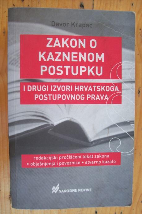 ZAKON O KAZNENOM POSTUPKU - Davor Krapac