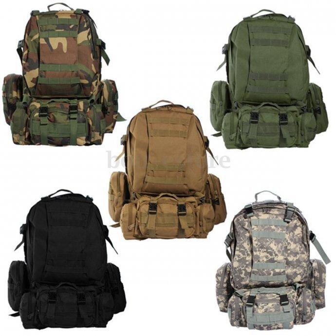 Novi trodjelni vojni ruksak više boja + dostava za cijelu Hr.