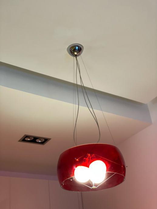 Dizajnerski talijanski luster Movelight Bella Donna, crveni, 2400kn