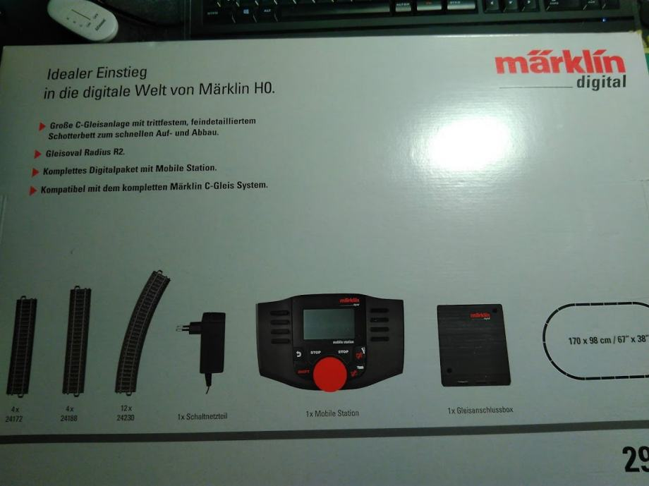 Marklin H0 Starter digital set - NEISPRAVAN