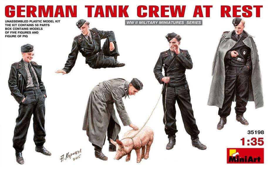 MINIART German tank crew at rest