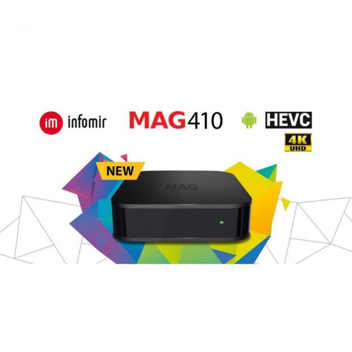 ​​MAG410 4K ANDROID IPTV STB, wifi modul,