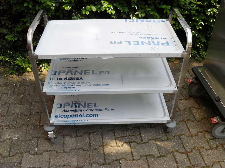 Inox kolica za ljekove sa kotačima
