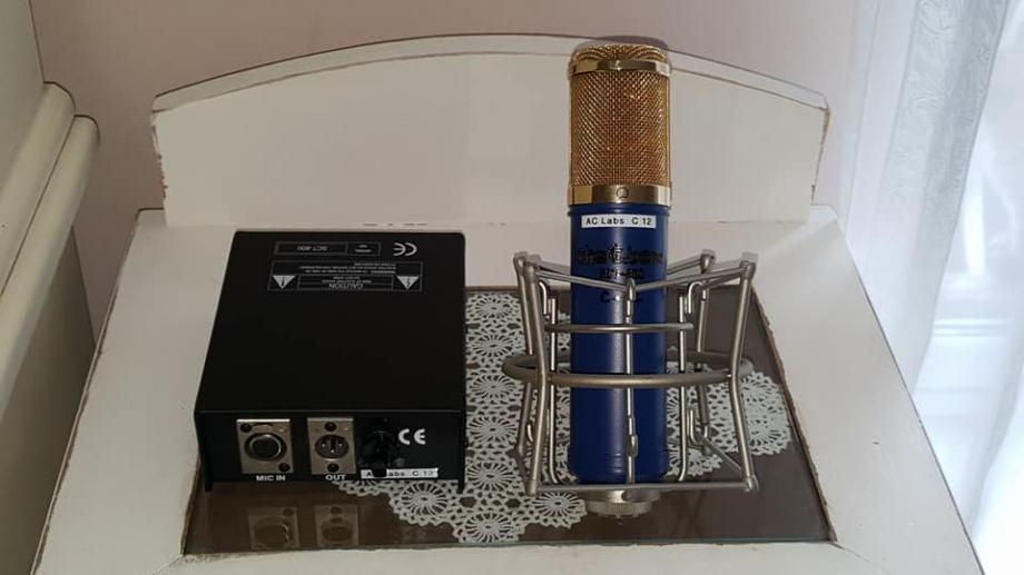 AKG C-12 studijski kondenzatorski lampaški mikrofon, clone