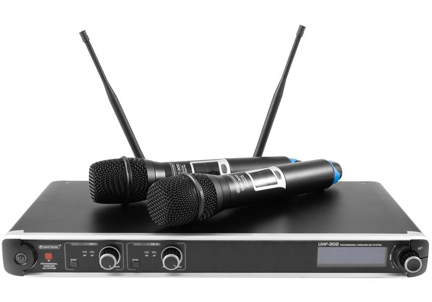 OMNITRONIC UHF-302 2-Channel Wireless Mic System