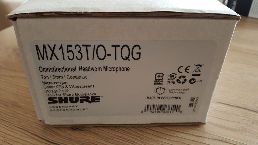 Shure MX153T/O in-ear mikrofon