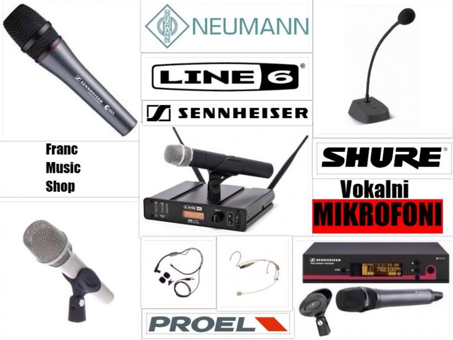 VOKALNI mikrofoni - KOMPLETNA ponuda | POVOLJNE cijene |