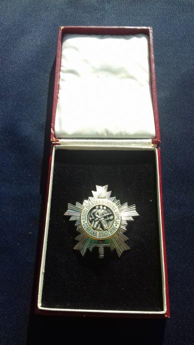 Orden narodne armije sa srebrnom zvijezdom u kutiji