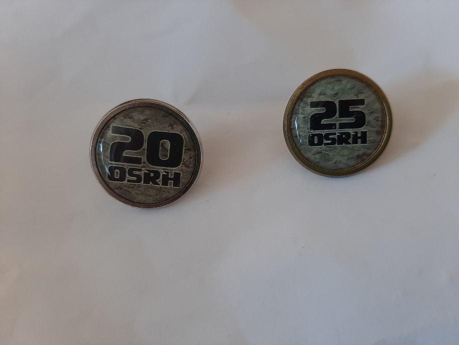 Značke obljetnica OSRH 20 i 25 - set