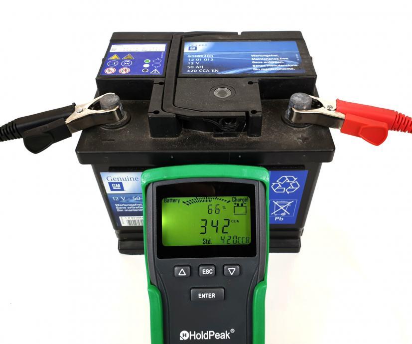 HP-2015 Auto-Batterie-Tester LCD 12v/24v akumulatore, gumirano kučište