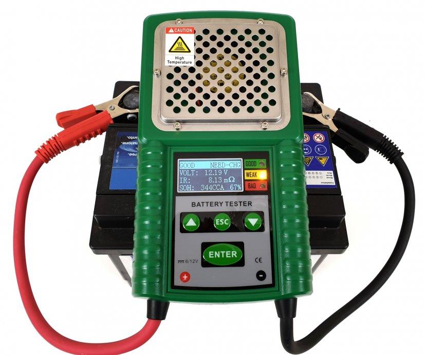 HP-26A 6v/12v 40-200Ah 1-100 mO LCD Automotive Load Battery Tester