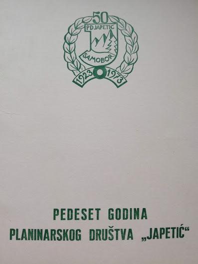 Pedeset godina PD Japetić 1923-1973