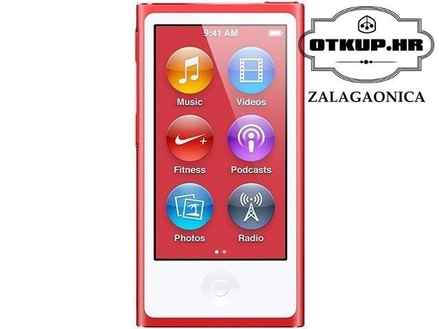 IPOD NANO 7TH GEN, 16GB, PRODUCT RED (A1446), R1, RATE, POVOLJNO !!