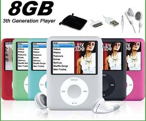Mp4 3. generacija 8gb, nov zapakiran