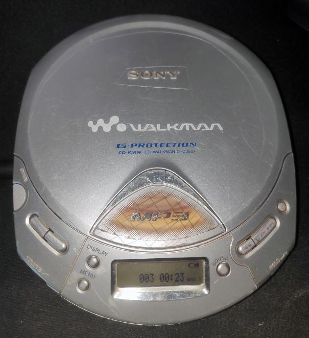 Sony D-CJ501 discman / mp3 player