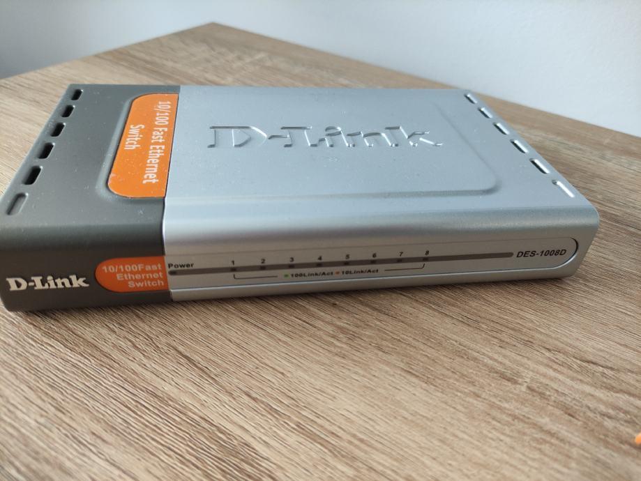 D-link DES-1008D 10/100 switch 8 portova