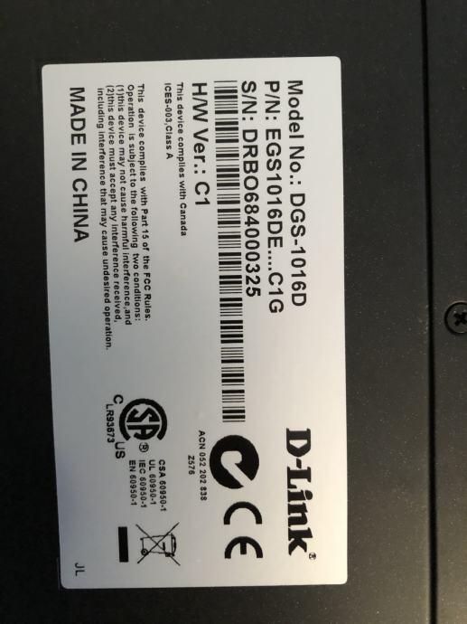Switch d-link dgs-1016d