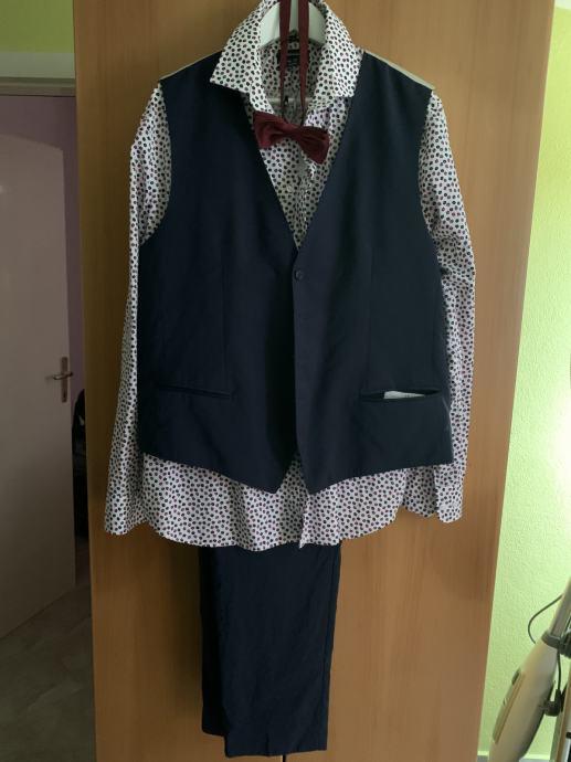 Bugatti* musko odijelo, hlace, kosulja, prsluk, masna, kajis, cipele