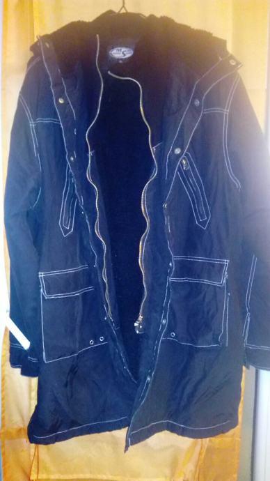 Muška crna topla jakna br. XL