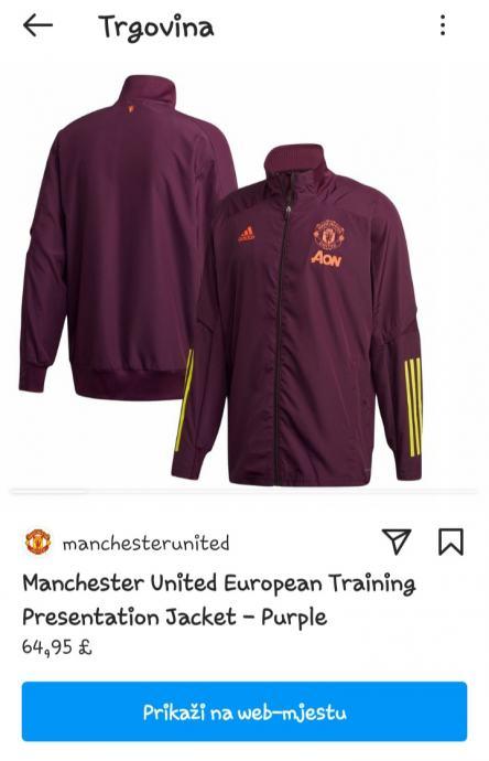 Manchester United Training Presentation Jacket - Ljubičasta