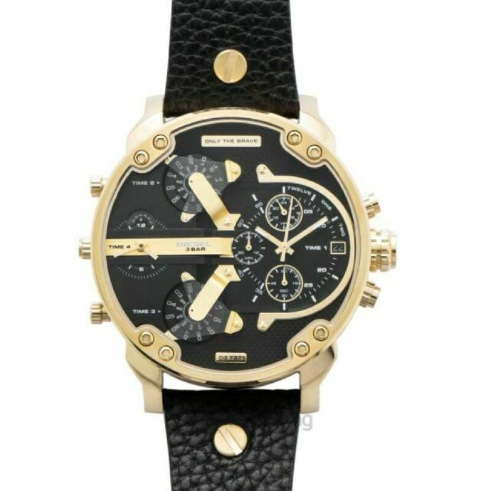 Diesel sat muški zlatni crni *NOVO* TOP*