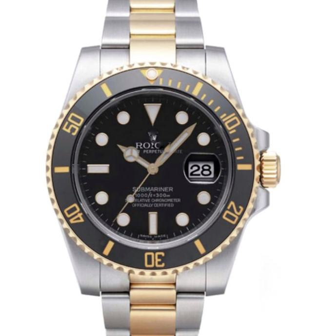 Rolex Submariner 18k 2-tone Black Ceramic Bezel Replika