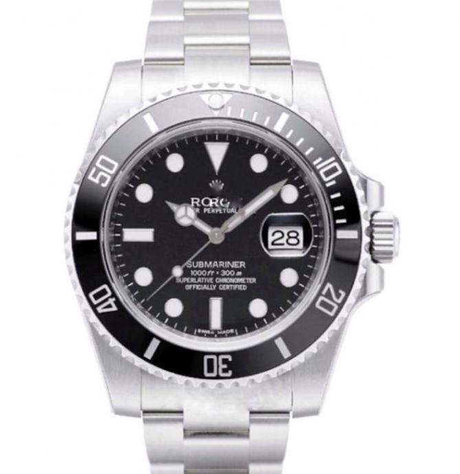 Rolex Submariner Date SS Black Ceramic Bezel Replika