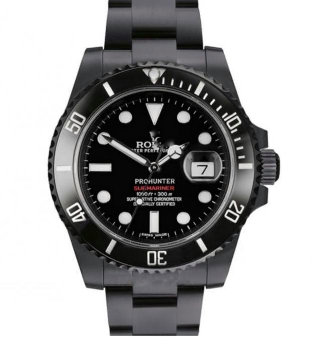 Rolex Submariner Date DLC Black Ceramic Bezel Replika