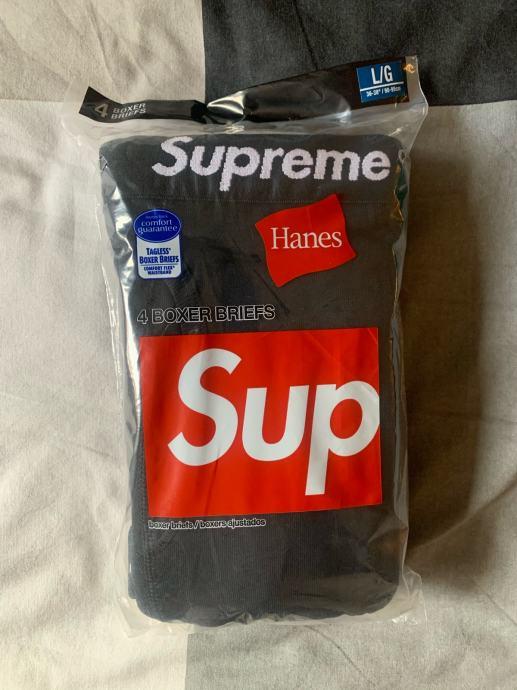 Supreme Hanes Boxer Black