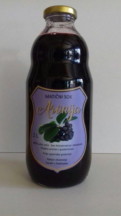 Aronija sok 1Litra 40kn 100% maticni sok SLAVONSKI BROD NIZA CIJENA!!!
