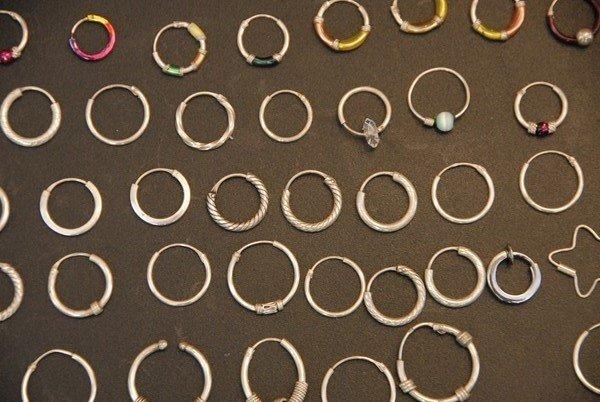 SREBRO 925 , Lot srebrne naušnice 110 komada  , nakit akcija srebro