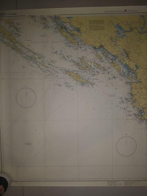 Pomorske karte Dugi otok-Zadar i Šibenik-Split